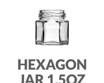 Hexagon jars with lid 1.5oz