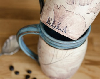 Personalized Pottery Coffee Mug-Coffee Craver
