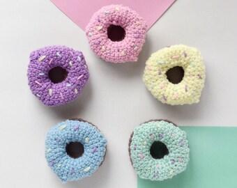 Donut Rattle | Crochet Donut | Crochet Rattle | Baby Toy Rattle | Poppy and Peridot