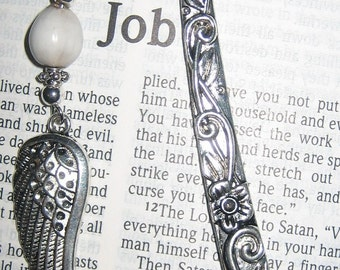 Jobs Tears Wing Charm and Flower Shank Bookmark