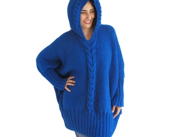 NEW! Over Size Sweater With Hood by Afra