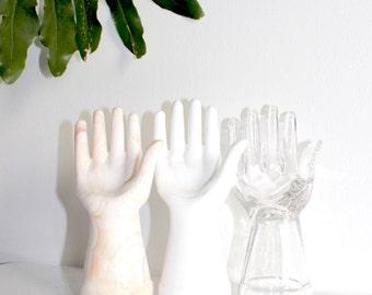 Marbled 'Hand' Ring Holder