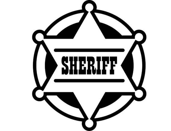 sheriff badge 2 cowboy western rodeo wild west wrangler rh etsy com florida sheriff badge vector deputy sheriff badge vector