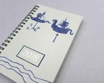 ON SALE was 24 now 18. 2018 Weekly Planner, Agenda, Day Planner, Calendar, Pocket Size, papergoods, handmade