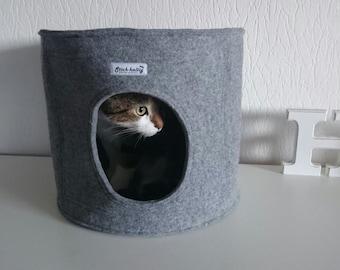 Round Felt Cat bed, Cat house, Cat cave