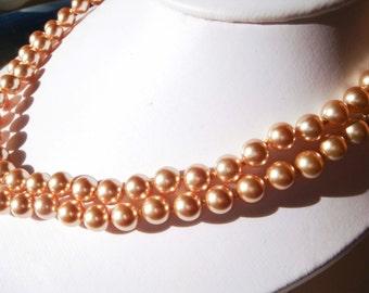 Vintage Kissaka simulated Pearl Necklace Wedding Bridal