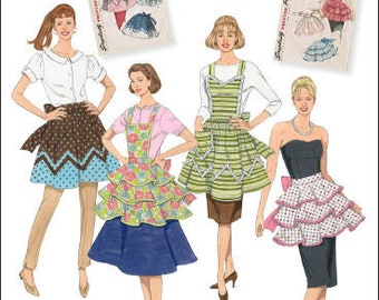 Simplicity Sewing Pattern 2592 1950's Vintage Apron