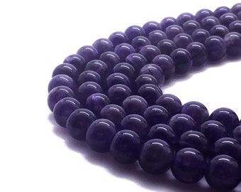 8mm Natural Amethyst Beads Round 8mm Amethyst 8mm Amethyst Bead Amethyst Birthstone February Birthstone Stone Amethyst Gemstone Purple Stone
