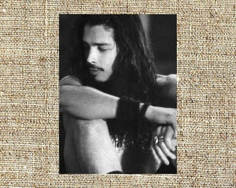 Chris Cornell photograph, black and white photo print, vintage photograph, anniversary gifts for boyfriend/ girlfriend, birthday gift ideas