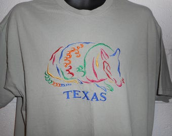 Vintage 80s 90s Texas Armadillo T-Shirt XL