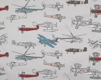 "One Pair of Custom Panels Window Panels Curtains 50""W x 84"" L, Unlined in Beautiful vintage airplanes, window treatment"