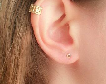 Small Earrings-Small Studs-Small Stud Earrings-Flat Round Earrings-Tiny Circle Studs-Circle Earrings-Petite Earrings-teeny tiny studs