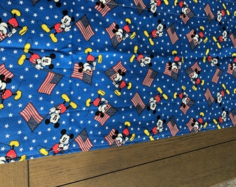 Mickey Mouse Blue flag Patriotic table runner