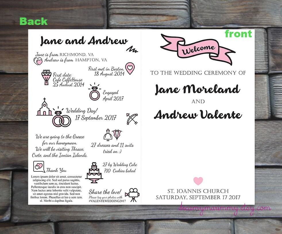 Brauch Hochzeit Infografik Programmheft druckbare Hochzeit