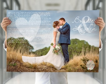 First anniversary gift for her, anniversary gift for him, wedding vows poster, paper anniversary gift, 10th anniversary gift