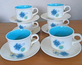Taylor Smith Fabrique Cups & Saucers - Set of 6