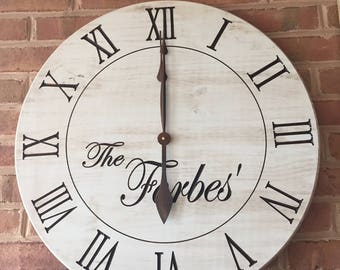 Good Large White Clock  Personalized Wall Clock  24