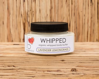 Whipped // Lavender Lemongrass Organic Body Butter