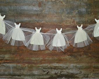 Bride Gown Banner, Bridal Shower Decorations, Wedding Dress Garland, Bridal Shower Backdrop, Unique Shower Decor, Paper Banner, Bride To Be