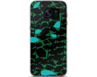 Samsung Galaxy S9 Case,S8, S7, Plus, Prints, Art,Retro,Designer, Black, Retro,Green, Phone Case Print,Pattern, Marimekko, Illustration