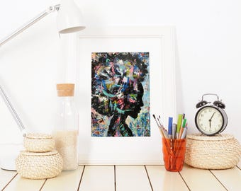 Hala - Acrylic Art Print / Wall Art/ Contemporary Acrylic Art Print