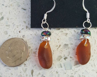 Amber sea glass, collected from every beach possible.
