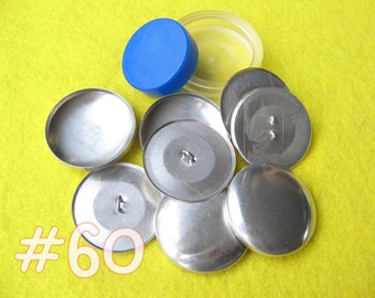 Covered Button Kit - 1 1/2 inch - Size 60 starter kit tool loop back buttons diy notion supplies rubber hand press non machinery