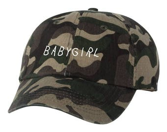Babygirl  Dad Hat Adjustable Baseball Cap New - Camo