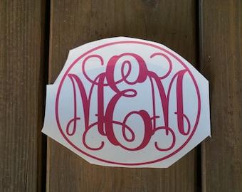 Monogram Vinyl Decal
