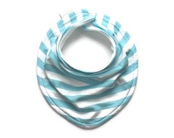 Baby bandana bib, baby bib, bandana bib, blue stripe bib, baby bib boy, drool bib, scarf bib, baby scarf bib, baby bib bandana, baby bandana