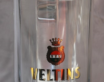 Veltins Brautradition Glass Beer Stein - Tankard - Man Cave Decor - Breweriana - Collectibles - Drinkware - Barware - German Beer