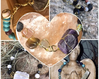 Handmade Custom Healing Crystal Jewelry