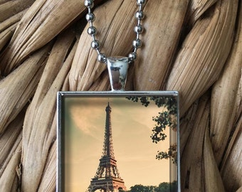 The Eiffel Tower in Beautiful Paris Pendant Necklace
