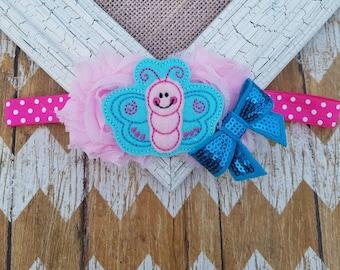 Butterfly headband, girls headband, butterfly hair accessory, girls headband, baby headband, infant headband, butterfly girls outfit