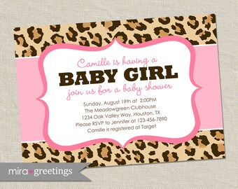 Leopard invitation Etsy