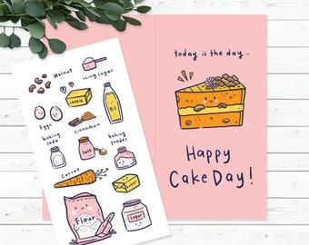 Greeting Card - Happy Cake Day