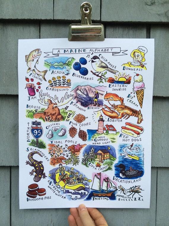 Maine Alphabet Print