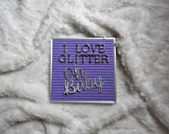 Glitter Letter Upgrade for Your Order