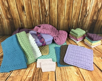 A Dozen Dishcloths and Household Items Set - Crochet Pattern