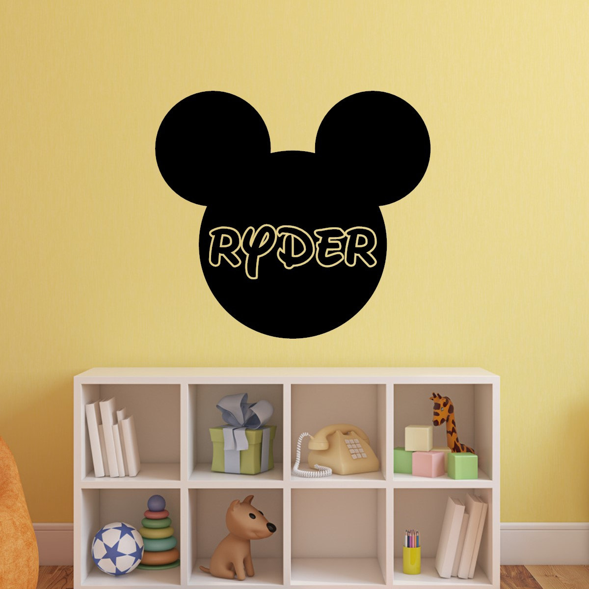 Mickey Mouse Wall Decal Personalized Name Vinyl Sticker