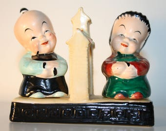Occupied Japan Salt & Pepper Shakers Asian Theme