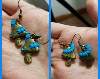 Alice in wonderland Absolem earrings
