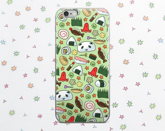 Bento boîte étui pour iPhone 6/7/8/X, Sushi mignon, Kawaii housse de portable, accessoire de téléphone, de téléphone cas, mignon, téléphone, cadeau Adorable, la nourriture Super mignon