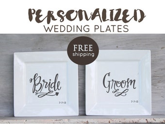 6 INCH Wedding Platter, Choose design and colors. Custom wedding plate, bride and groom engagement gift, Anniversary