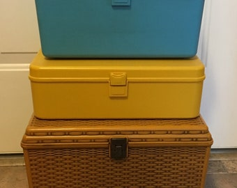 Vintage Wil Hold Sewing Box/tackbox/storage/gift/DIY