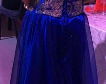 Evening Dress Mother of the Bride Dress Corset Brocard Fabric Hand Made