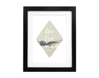 Surf Quote, Ocean Art Print, Ocean Poster, Ocean Quote, Beach Wall Art, Surf Decor, Surfing Art Print, Photography Art, Quote Print