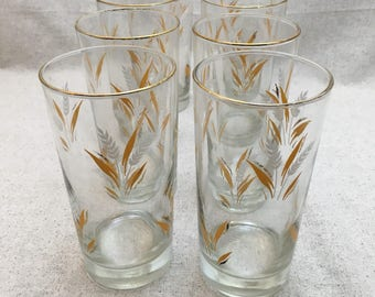 Libbey Wheat Spray Tumblers - Set of 8
