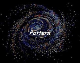 Galaxy. Cross Stitch Pattern. PDF Files.