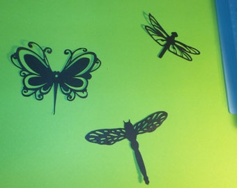 Dragonfly Die Cuts,nature die cuts,dragonfly party,dragonfly silhouettes